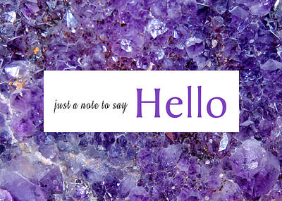 Photograph - Amethyst Hello by Donna Proctor