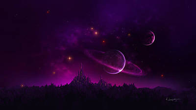 Graphics Digital Art - Amethyst Night by Cassiopeia Art