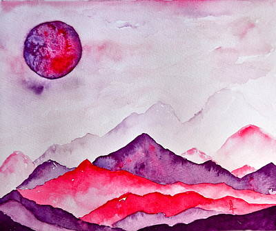 Otherworldly Painting - Amethyst Range by Beverley Harper Tinsley