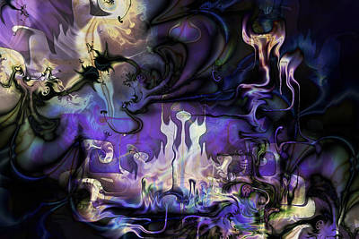Digital Art - Amethyst Realm  by Kiki Art