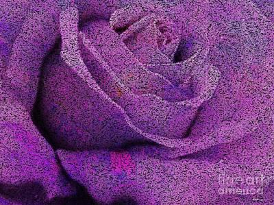 Amethyst Rose Disintegrates Art Print by Elizabeth McTaggart
