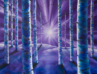Painting - Amethyst Winter by Melinda Cummings