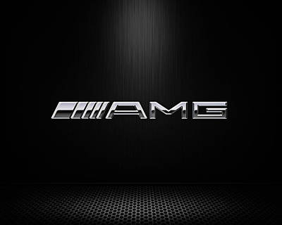 Chrome Wall Art - Digital Art - Amg Center Stage by Douglas Pittman