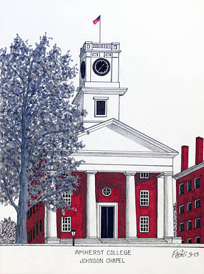 Drawing - Amherst College by Frederic Kohli