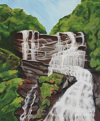 Painting - Amicalola Falls by Annette M Stevenson