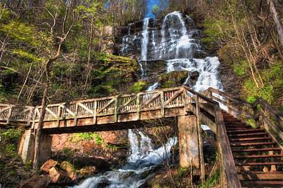 Digital Art - Amicalola Falls by Kaylee Mason