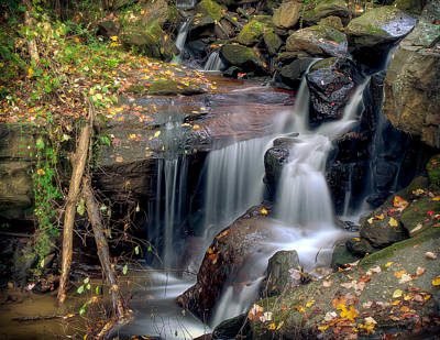Amicalola Waterfall Art Print by Anna Rumiantseva