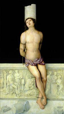 1505 Painting - Amico Aspertini, Saint Sebastian, Italian by Litz Collection
