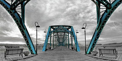 Chattanooga Tennessee Photograph - Amid The Bridge by Steven Llorca