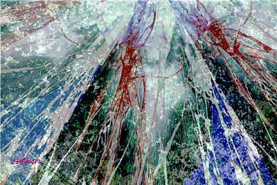 Compullage Digital Art - Amid The Falling Snow by Seth Weaver