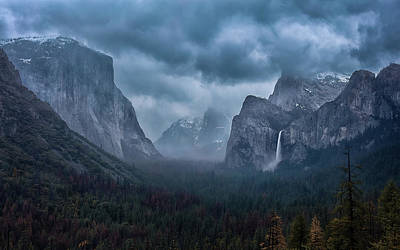 Yosemite National Park Wall Art - Photograph - Amidst A Thunderstorm by Michael Zheng