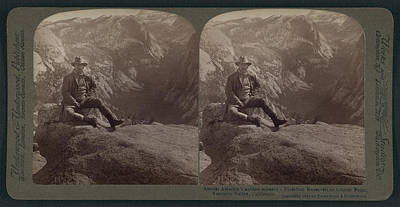 Yellowstone Drawing - Amidst Americas Noblest Scenery - President Roosevelt by Litz Collection