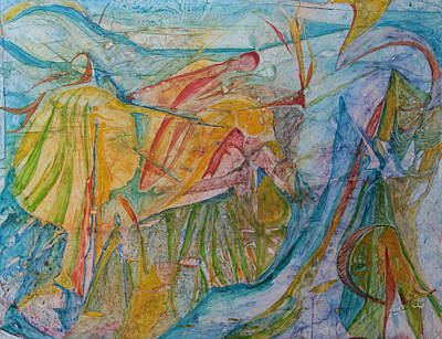 Painting - Amidst The Gods by Trina Teele