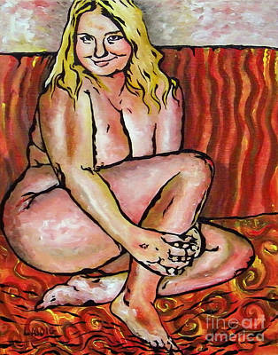 Curvy Beauty Painting - Amie Smiles by Aarron  Laidig