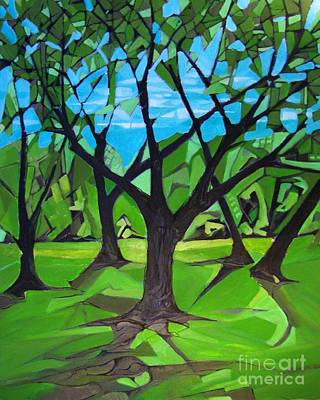 Painting - Amigos - Trees Botanicals by Grace Liberator