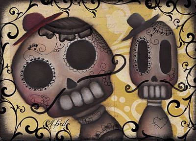 Amiguitos Art Print by  Abril Andrade Griffith