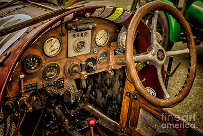 Steering Digital Art - Amilcar Riley Special  by Adrian Evans