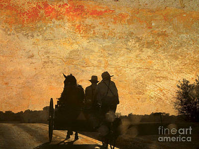 Amish After A Hard Days Work Art Print