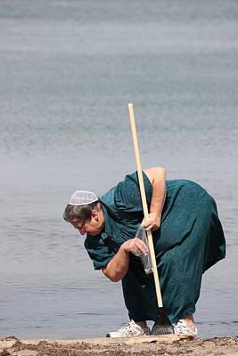 Photograph - Amish At The Beach by Amanda Just