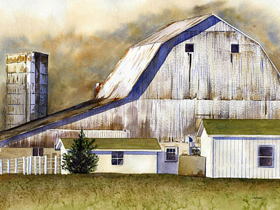All Weather Painting - Amish Barn by Patti Bishop