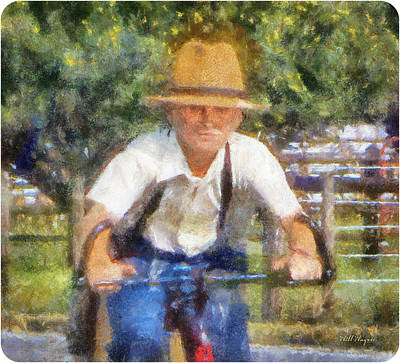 Amish Boy Painting Art Print by Will Wagner