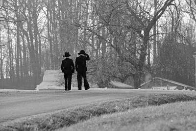 Photograph - Amish Boys by Ann Bridges