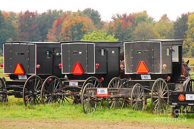 Amish Buggies 2 Art Print by Mary Carol Story