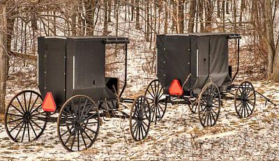 Amish Buggy Photograph - Amish Buggies by Joe Granita