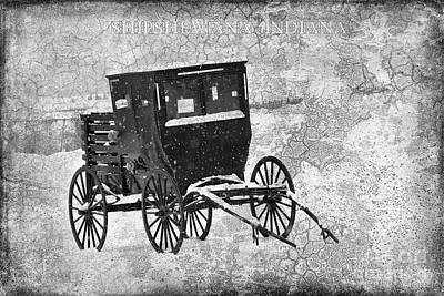 Amish Photograph - Amish Buggy For Sale Shipshewana by David Arment