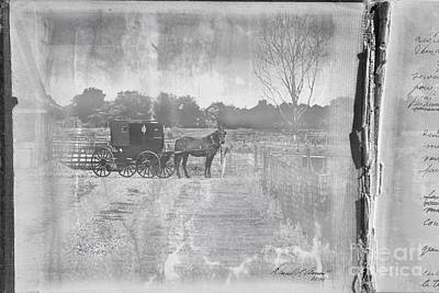 Amish Photograph - Amish Buggy In Old Book by David Arment
