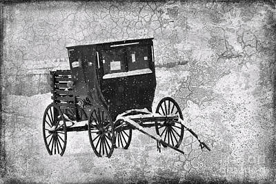 Amish Photograph - Amish Buggy In Winter For Sale by David Arment