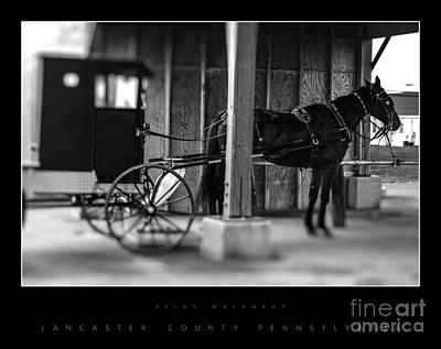 Amish Buggy Parking Art Print by Vilas Malankar
