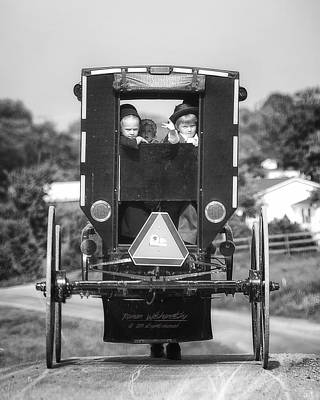 Photograph - Amish Buggy by Roman Wilshanetsky