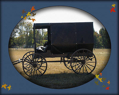 Digital Art - Amish Buggy by TnBackroadsPhotos