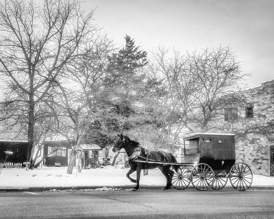 Photograph - Amish Buggy by Tom Gort