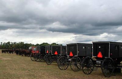Amish Car Park Art Print