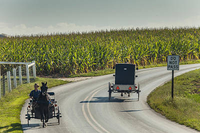 Clouds Rights Managed Images - Amish Carriages Royalty-Free Image by Richard Nowitz