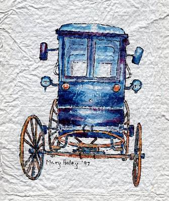 Amish Cart Art Print by Mary Haley-Rocks
