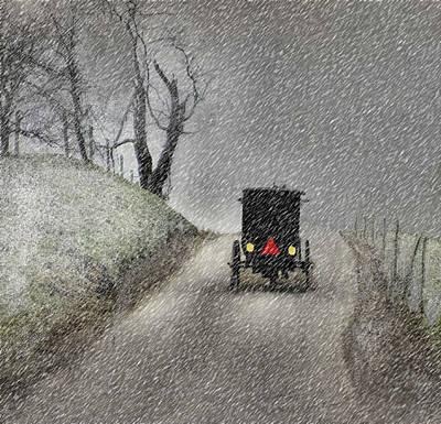 Amish Christmas Art Print