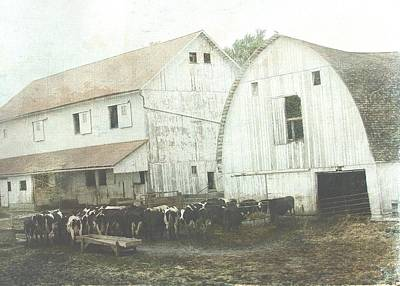 Iowa Digital Art - Amish Dairy by Cassie Peters