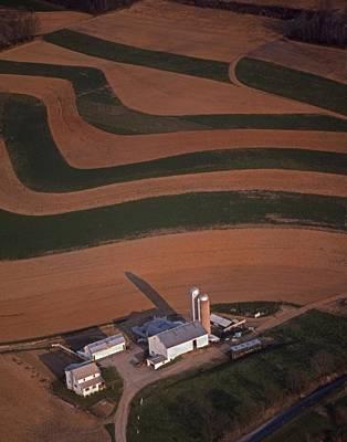 Amish Farm And Field Aerial Art Print by Blair Seitz