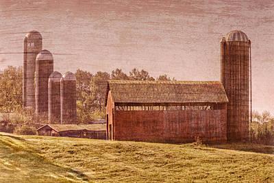 Mennonite Photograph - Amish Farm by Debra and Dave Vanderlaan
