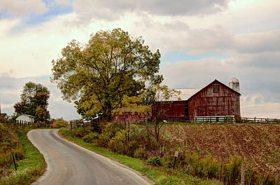 Photograph - Amish Farm II by Ann Bridges