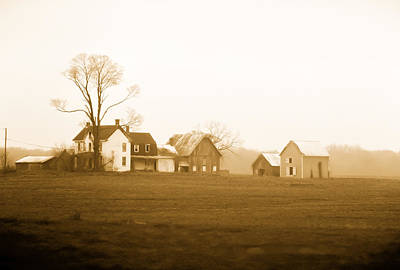 Amish Farms Digital Art - Amish Farm by Mary Louise Loyd