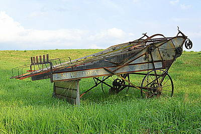 Photograph - Amish Harvester by Joel E Blyler