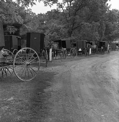 Photograph - Amish In Pennsylvania by Henri Bersoux