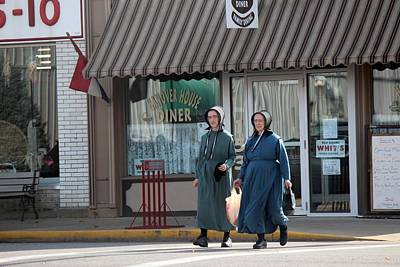 Amish Community Photograph - Amish Ladies Go Shopping by R A W M
