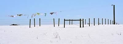 Photograph - Amish Laundry Over Snow by Tana Reiff