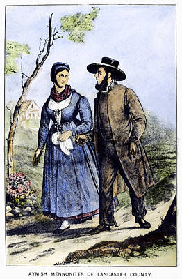 Communal Painting - Amish Mennonite Couple by Granger