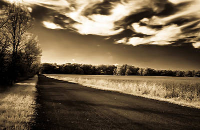 Photograph - Amish Road by David Stine